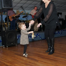 Child and lady dancing