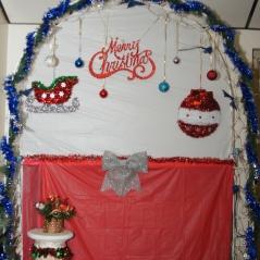Moose lodge christmas decor on the wall