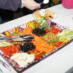 Fresh veggies and olives tray